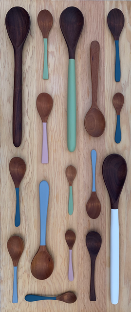 Wooden Spoons with Vibrant colours and all natural finish